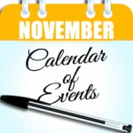 November's calendar of events