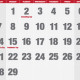 Monthly calendar for January
