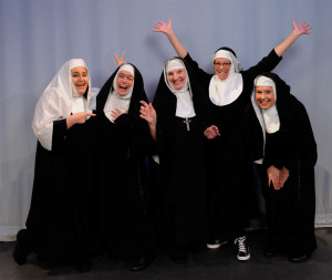 "Set to appear in  ""Nunsense II: The Second Coming"" are, from left, Donna Zurro Gorham, Karen Gail Kessler, Cathy Fox, Maria Day and Jeanne Sullivan Evans. (Submitted photo)"